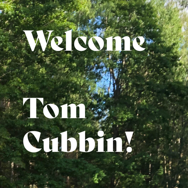Welcome Tom Cubbin!