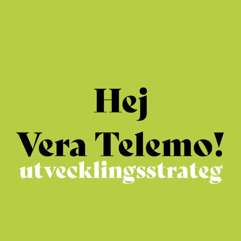 Hej Vera Telemo!